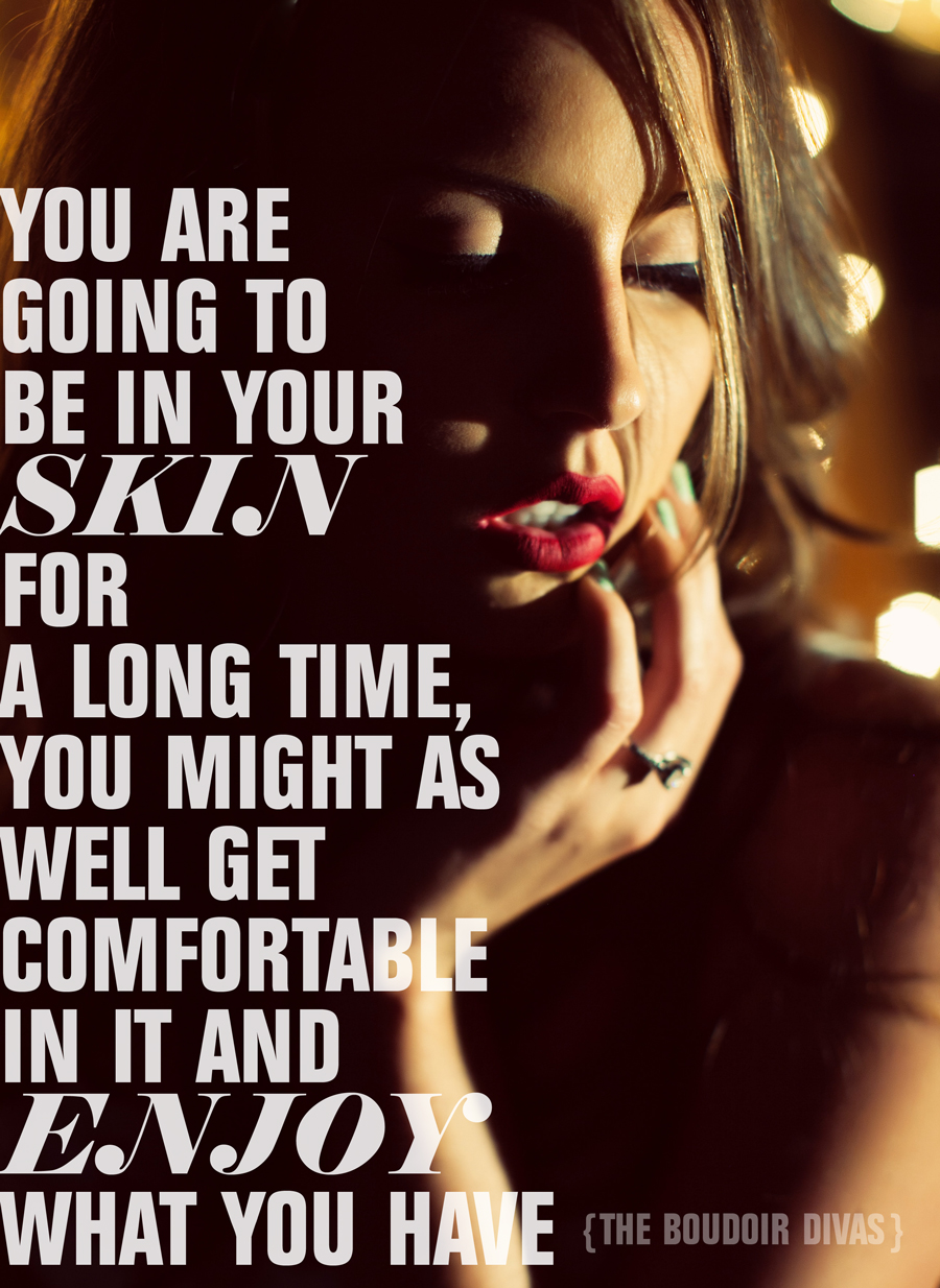 Boudoir divas beauty confidence quote